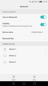 Huawei Mate 8 - Bluetooth - Pair with another device - Step 5