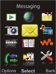 Sony W595 - E-mail - Manual configuration - Step 3