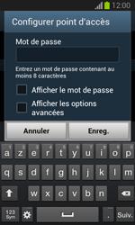 Samsung Galaxy Trend - Internet et connexion - Partager votre connexion en Wi-Fi - Étape 9