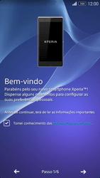 Sony Xperia M2 - Primeiros passos - Como ligar o telemóvel pela primeira vez -  5