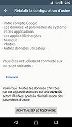 Sony Xperia X - Android Nougat - Device maintenance - Retour aux réglages usine - Étape 7