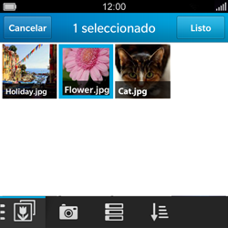 BlackBerry Q5 - Mensajería - Escribir y enviar un mensaje multimedia - Paso 12