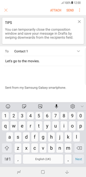 Samsung Galaxy S8 Plus - Android Oreo - E-mail - Sending emails - Step 10