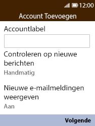 Nokia 8110-ta-1071 - E-mail - Handmatig instellen - Stap 15