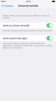 Apple Apple iPhone 6 Plus iOS 10 - iOS features - Centre de contrôle - Étape 4