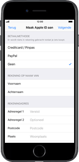 Apple iPhone 8 Plus (Model A1897) - Applicaties - Account aanmaken - Stap 15