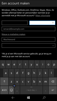 Microsoft Lumia 950 XL - Applicaties - Account aanmaken - Stap 9