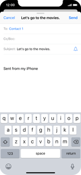 Apple iPhone X - Email - Sending an email message - Step 7