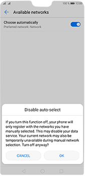 Huawei P20 Pro - Network - Manually select a network - Step 7