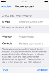 Apple iPhone 4s iOS 8 - Applicaties - Account aanmaken - Stap 13