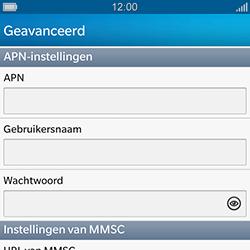 BlackBerry Q10 - MMS - handmatig instellen - Stap 9