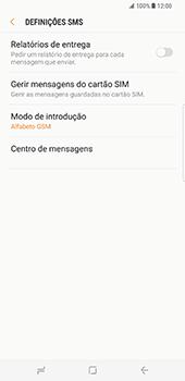 Samsung Galaxy S8 Plus - SMS - Como configurar o centro de mensagens -  8