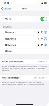 Apple iPhone X - iOS 13 - Wi-Fi - Connect to a Wi-Fi network - Step 5