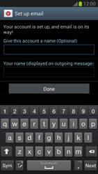 Samsung N7100 Galaxy Note II - E-mail - Manual configuration - Step 13