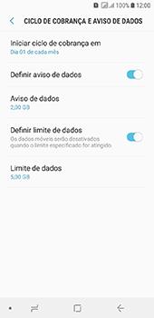 Samsung Galaxy J6 - Rede móvel - Como definir um aviso e limite de uso de dados - Etapa 13