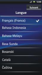 Sony Ericsson Xpéria Arc - Premiers pas - Créer un compte - Étape 2