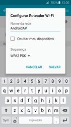 Samsung Galaxy S6 - Wi-Fi - Como usar seu aparelho como um roteador de rede wi-fi - Etapa 8
