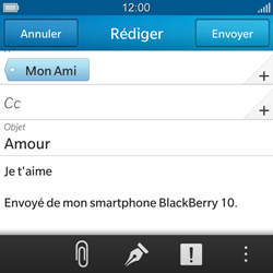 BlackBerry Q10 - E-mail - Envoi d
