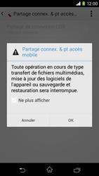 Sony Xpéria M2 - Internet et connexion - Partager votre connexion en Wi-Fi - Étape 13