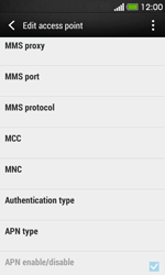 HTC Desire 500 - Internet - Manual configuration - Step 14