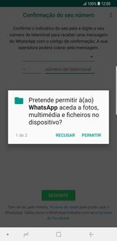Samsung Galaxy Note9 - Aplicações - Como configurar o WhatsApp -  7
