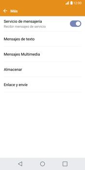 LG G6 - Mensajería - Configurar el equipo para mensajes de texto - Paso 6