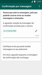 Samsung Galaxy S5 - Aplicações - Como configurar o WhatsApp -  8