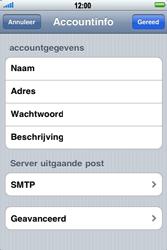 Apple iPhone 4 - E-mail - Handmatig instellen - Stap 13