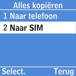 Samsung GT-E1200i - Contacten en data - Contacten kopiëren van toestel naar SIM - Stap 6