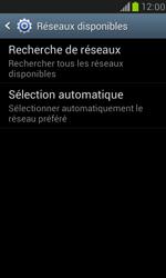 Samsung I8190 Galaxy S III Mini - Réseau - Sélection manuelle du réseau - Étape 7