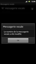 Sony MT27i Xperia Sola - Messagerie vocale - Configuration manuelle - Étape 8