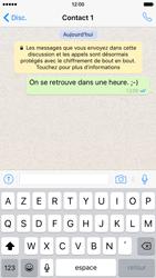 Apple iPhone 6 iOS 9 - WhatsApp - Partager des photos et votre emplacement avec WhatsApp - Étape 16