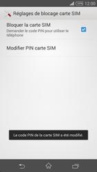 Sony Xpéria Z3 - Sécuriser votre mobile - Personnaliser le code PIN de votre carte SIM - Étape 10