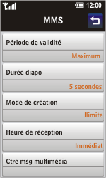 LG GD900 Crystal - MMS - Configuration automatique - Étape 8