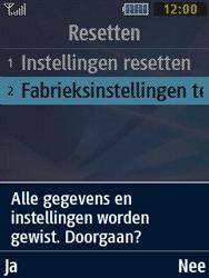Samsung B2710 Xcover 271 - Instellingen aanpassen - Fabrieksinstellingen terugzetten - Stap 6