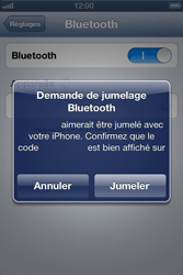 Apple iPhone 4 S - iOS 6 - Bluetooth - connexion Bluetooth - Étape 8