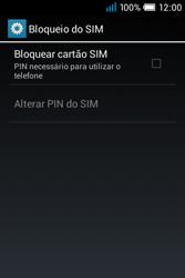 Alcatel POP C1 - Segurança - Como ativar o código PIN do cartão de telemóvel -  6