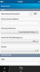 BlackBerry Z30 - SMS - Manual configuration - Step 10