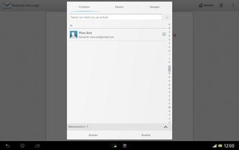 Sony SGP321 Xperia Tablet Z LTE - E-mail - envoyer un e-mail - Étape 6