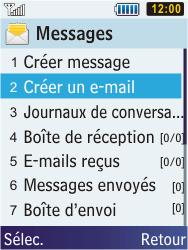 Samsung C3350 Xcover 2 - E-mail - Envoi d