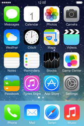 Apple iPhone 4 S iOS 7 - MMS - Sending pictures - Step 1