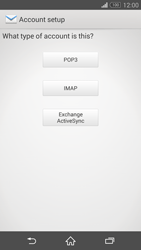 Sony D6603 Xperia Z3 - E-mail - Manual configuration - Step 7