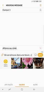 Samsung Galaxy Note 8 - Contact, Appels, SMS/MMS - Envoyer un MMS - Étape 13