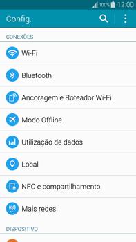 Samsung N910F Galaxy Note 4 - Rede móvel - Como ativar e desativar uma rede de dados - Etapa 4