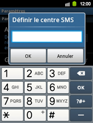 Samsung S5360 Galaxy Y - SMS - configuration manuelle - Étape 5