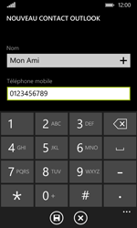 Nokia Lumia 530 - Contact, Appels, SMS/MMS - Ajouter un contact - Étape 6