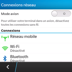 BlackBerry Q5 - Wifi - configuration manuelle - Étape 4