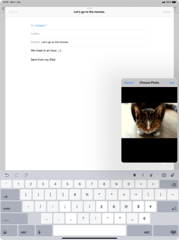 Apple iPad Pro 12.9 (2018) - Email - Sending an email message - Step 11