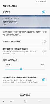 Samsung Galaxy Note 8 - Android Oreo - Segurança - Como ativar o código de bloqueio do ecrã -  11