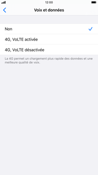Apple iPhone 8 Plus - iOS 13 - Réseau - activer 4G - Étape 6